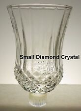 Home Interior Small Clear Diamond Crystal Votive Cup w/ rubber grommet