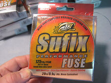 Sufix Braid Performance Fuse Braided Fishing Line 20 LB 125 YD Smoke Blue Green