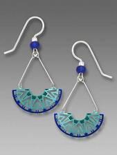Adajio Earrings Geometric Half Circle in Cobalt Blue and Teal Hues Handmade USA