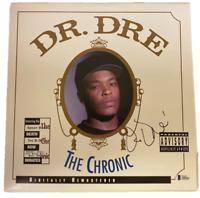 DR. DRE SIGNED THE CHRONIC VINYL ALBUM AUTHENTIC AUTOGRAPH BECKETT LOA