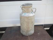 Ancien bidon de Lait  pot aluminium  déco ferme montagne chalet creme savoie 7