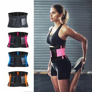 Waist Back Support Belt Slim Home Workout Trainer Gym Fitness Weightlifting