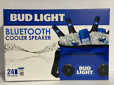 Bud Light Portable Cooler Bag w/ Built-in Rechargeable Bluetooth Speaker- Sealed