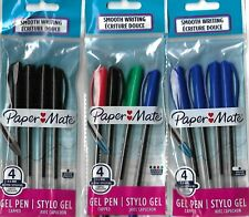 Papermate 4 pack gel ink pens choose from Blue, Black, or multi colour pack.