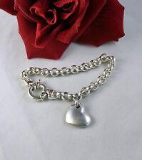 Sterling Silver Italy Milor 25g Heart Charm Bracelet CAT RESCUE