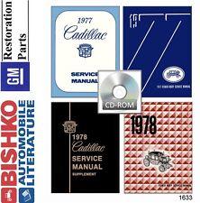 1977 1978 Cadillac Seville Eldorado Deville Shop Service Repair Manual CD OEM