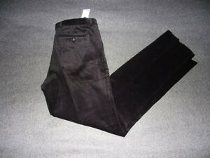 pantalon homme taille 48 noir velours coupe ajustée confort extensible tex neuf