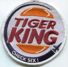 NTM NATO TIGER MEET F-16 SWIRL burdock PATCH: Tiger King CHECK SIX