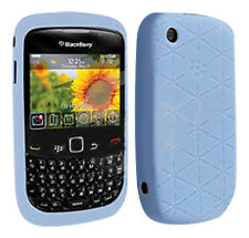 Original Blackberry 8520 Curve en relieve en la piel caso Frost