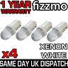 4x LED HID XENON WHITE SIDE LIGHT 233 T4W BA9S BAYONET CAP UK 1 YEAR COVER