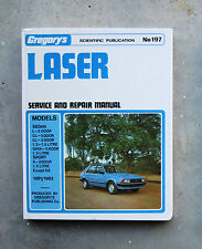 FORD LASER Service Repair Restore Workshop GREGORYS Manual S GL GHIA SPORT 1.5L