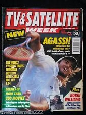 TV & SATELLITE WEEK - ANDRE AGASSI WIMBLEDON - 19 JUNE 1993