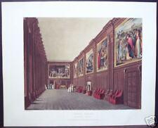 "W. H. Pyne: ""Cartoon Gallery, Hampton Court"" 1819"