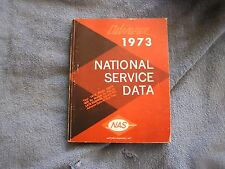 Advance 1973 National Service Data NAS Mitchell Manual