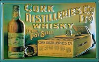 Cork Distilleries embossed steel sign (hi 3020) REDUCED TO CLEAR!!