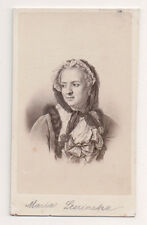 Vintage CDV Marie Leszczyńska Queen of France  E. Desmaisons Photo