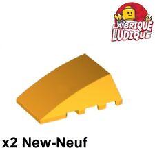Lego - 2x Wedge 4x4 capot aile hood toit bright light orange clair 47753 NEUF
