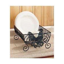 Dish Drying Rack Plates Drainer Kitchen Holder Storage Iron Scroll Design Dryer