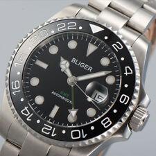 40mm BLIGER Ceramic Bezel GMT Luminous sapphire automatic Date Day mens watch