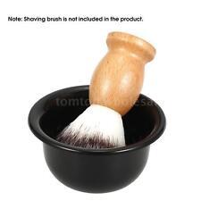 Men's Shaving Brush Bowl Barber Soap Mug Cup Plastic Black Bowl X1M7