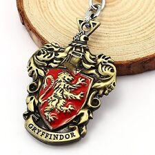 New Harry Potter Gryffindor Logo Metal Keychain Keyring Gold Color