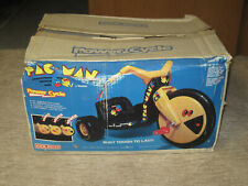 Pac Man Big Wheel Power Cycle 1982 Coleco New In Box!!! ** extremely rare  **