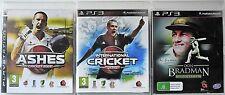 Ashes Cricket 2009, International Cricket 2010 and Don Bradman Cricket 14 PS3