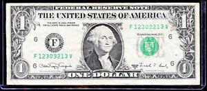1988A $1 Web Press Note FV Block Run 02 Combo 09/08 F12309213V VF NR!