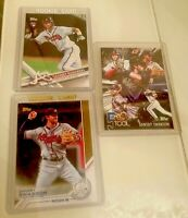 2017 TOPPS SERIES 1  DANSBY SWANSON ROOKIE / RC # 87, #S-75, 5T-48 RC Lot