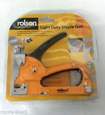 Rolson 44320 Light Duty Staple Gun / Durable Steel Body Stapler Brand New