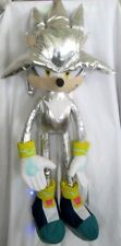 """Fandom Silver Sonic the Hedgehog Large Plush 45"""" Plush Doll-New with Tags! RARE!"""
