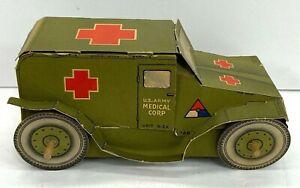 Vintage US Army Ambulance Paper Toy Display
