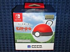 Pokemon Monster Poke Ball Hard Pouch Carrying Case Switch Let's Go Pikachu Eevee