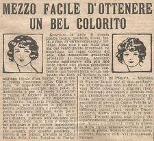W1677 Cipria PETALIA - TOKALON - Pubblicità del 1926 - Old advertising