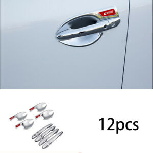 For Mazda CX5 CX-5 chrome exterior outside door handle sticker cover trim 12pcs