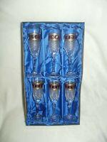 Coffret de 6 flûtes à Champagne. Collection l'Or Rouge.
