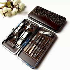 12PC Manicure Pedicure Set Stainless Steel Nail Clippers Kit Nail Cutter Set AU