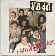 UB 40 I got you babe FRENCH SINGLE DEP INTERNATIONAL 1985 WITH CHRISSIE HYNDE