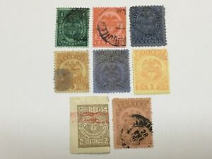 old stamps  COLOMBIA     x  8