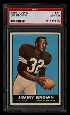 1961 TOPPS #2 PSA REGISTRY SET JIM BROWN UNITAS KEMP MIX OTTO 198/198 PSA 8 9 10