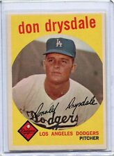 1959 Topps Baseball Card Don Drysdale HOF Pitcher Los Angeles Dodgers NR MT #387