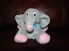 "Planet Hollywood Popcorn the Grey Elephant Plush Beanie Doll 4"""