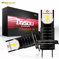 2PCS 55W H7 Car LED Headlight Bulbs 26000LM DRL Driving Auto Conversion Lamp Kit