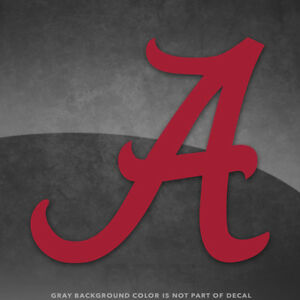 "Alabama Crimson Tide Bama Vinyl Decal Sticker - 4"" and Up - More Colors"