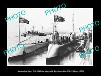 OLD POSTCARD SIZE PHOTO OF AUSTRALIAN NAVY SUBMARINES OTWAY & OXLEY c1930