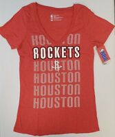 Houston Rockets Women's Short Sleeve Mesh Burnout T-Shirt | SZ Large | NWT