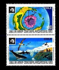 CHILE - CILE - 1991 - 30 anni del Trattato Antartico - (B)