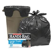 Handi-Bag Super Value Pack Trash Bags 30gal .65mil 30 x 33 Black 60/Box HAB6FT60