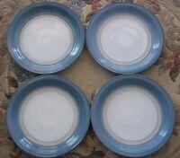SET OF  4    DENBY - LANGLEY  CASTILE  BLUE  DINNER  PLATES