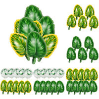 Tropical Palm Leaf Balloon Confetti Sets Birthday Decor Hawaii Party Supplies